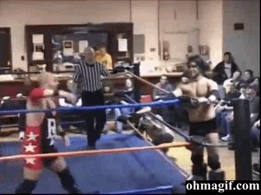 Wrestling Jumping Fail