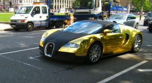 Gold-Plated Bugatti Veyron – $10 million