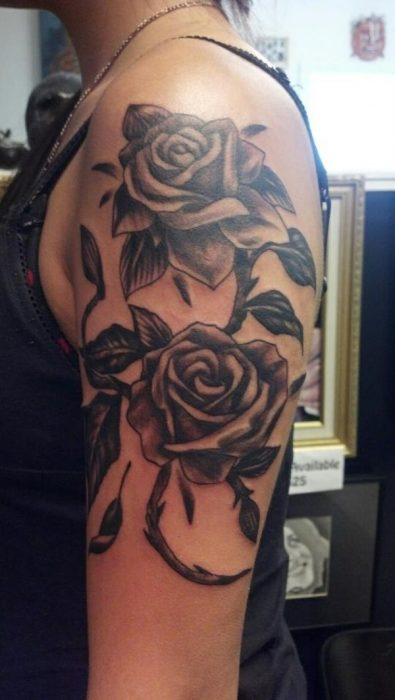flowers tattoos pictures upper arm tattoo for women