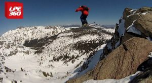 WATCH THIS SKI JUMP TURN INTO SKYDIVING || LPE360