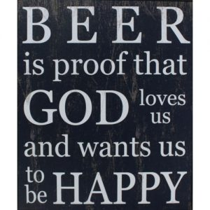 Funny Humorous Wooden Vintage Rustic Wall Plaque Saying Quotes Beer Man Cave Design