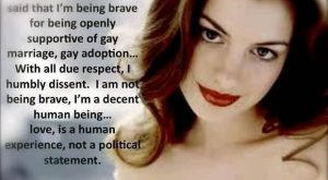 Good Celebrity Quote by Anne Hathaway There are people whove said that i