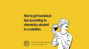 Not to get technical but according to chemistry alcohol is a solution
