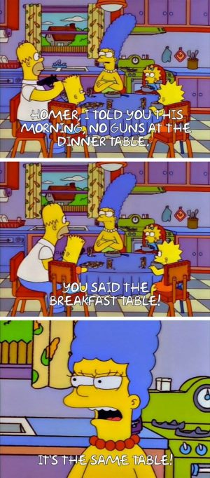 homer simpson quotes table